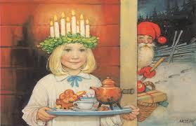 Traditional Swedish Christmas tradition Santa Lucia happening at ...