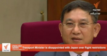Thai Transport Minister is disappointed with Japan over flight restrictions