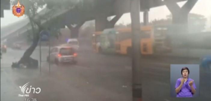 Traffic chaos as tropical storm hit Bangkok's inner zone