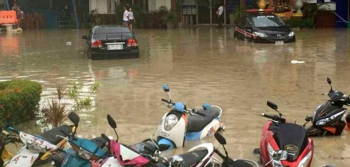 Phuket flash floods hit Patong