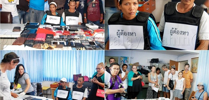 Thai couple arrested for stealing from farang's houses